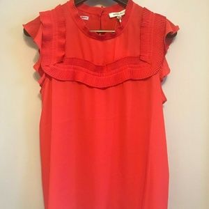 NWT Rose + Olive Red Top Blouse XL